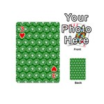 Gerbera Daisy Vector Tile Pattern Playing Cards 54 (Mini)  Front - Heart3