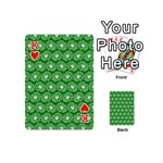 Gerbera Daisy Vector Tile Pattern Playing Cards 54 (Mini)  Front - HeartK