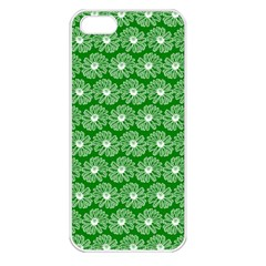Gerbera Daisy Vector Tile Pattern Apple Iphone 5 Seamless Case (white) by creativemom