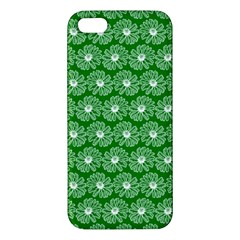 Gerbera Daisy Vector Tile Pattern Apple Iphone 5 Premium Hardshell Case by creativemom