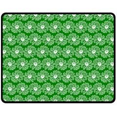 Gerbera Daisy Vector Tile Pattern Double Sided Fleece Blanket (medium)  by creativemom