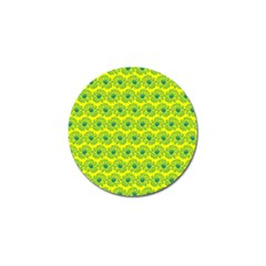 Gerbera Daisy Vector Tile Pattern Golf Ball Marker by creativemom