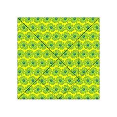 Gerbera Daisy Vector Tile Pattern Acrylic Tangram Puzzle (4  X 4 ) by creativemom