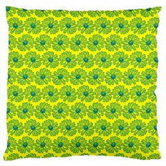Gerbera Daisy Vector Tile Pattern Standard Flano Cushion Cases (one Side)  by creativemom