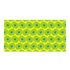 Gerbera Daisy Vector Tile Pattern Satin Wrap by creativemom