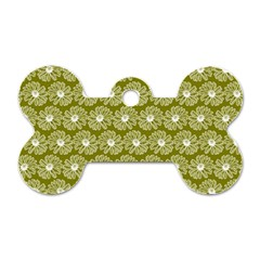 Gerbera Daisy Vector Tile Pattern Dog Tag Bone (two Sides) by creativemom