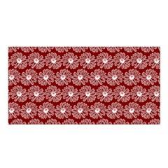 Gerbera Daisy Vector Tile Pattern Satin Shawl by creativemom