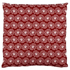 Gerbera Daisy Vector Tile Pattern Large Flano Cushion Cases (one Side)  by creativemom