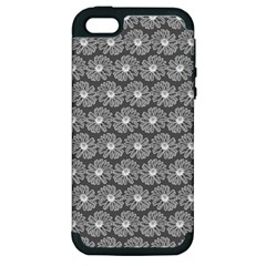 Gerbera Daisy Vector Tile Pattern Apple Iphone 5 Hardshell Case (pc+silicone) by creativemom