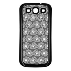 Gerbera Daisy Vector Tile Pattern Samsung Galaxy S3 Back Case (black) by creativemom