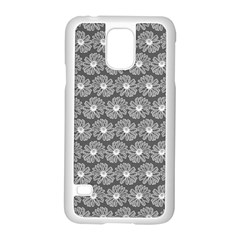 Gerbera Daisy Vector Tile Pattern Samsung Galaxy S5 Case (white) by creativemom