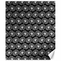 Black And White Gerbera Daisy Vector Tile Pattern Canvas 20  X 24   by creativemom