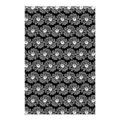 Black And White Gerbera Daisy Vector Tile Pattern Shower Curtain 48  X 72  (small)  by creativemom