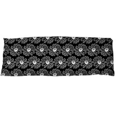 Black And White Gerbera Daisy Vector Tile Pattern Body Pillow Cases Dakimakura (two Sides)  by creativemom