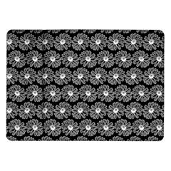 Black And White Gerbera Daisy Vector Tile Pattern Samsung Galaxy Tab 10 1  P7500 Flip Case by creativemom
