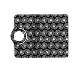 Black And White Gerbera Daisy Vector Tile Pattern Kindle Fire Hd (2013) Flip 360 Case by creativemom