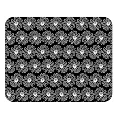 Black And White Gerbera Daisy Vector Tile Pattern Double Sided Flano Blanket (Large)  by creativemom