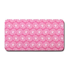 Pink Gerbera Daisy Vector Tile Pattern Medium Bar Mats by creativemom