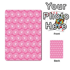 Pink Gerbera Daisy Vector Tile Pattern Multi Purpose Cards (rectangle)