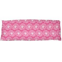 Pink Gerbera Daisy Vector Tile Pattern Body Pillow Cases Dakimakura (two Sides)  by creativemom