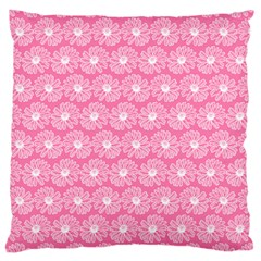 Pink Gerbera Daisy Vector Tile Pattern Large Cushion Cases (two Sides)  by creativemom