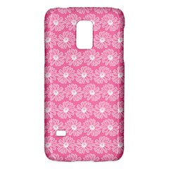 Pink Gerbera Daisy Vector Tile Pattern Galaxy S5 Mini by creativemom
