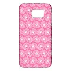 Pink Gerbera Daisy Vector Tile Pattern Galaxy S6 by creativemom