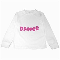 Pink Dance  Kids Long Sleeve T-Shirts by OCDesignss