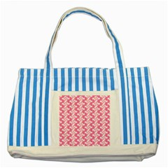 Cute Candy Illustration Pattern For Kids And Kids At Heart Striped Blue Tote Bag  by creativemom