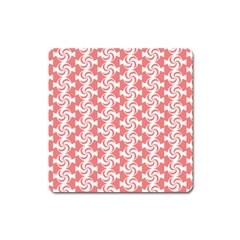 Candy Illustration Pattern  Square Magnet by creativemom