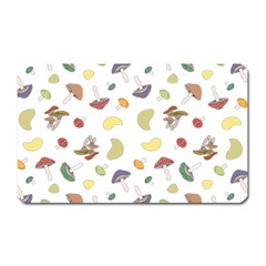 Mushrooms Pattern Magnet (rectangular) by Famous