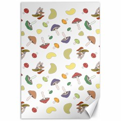 Mushrooms Pattern Canvas 20  X 30   by Famous