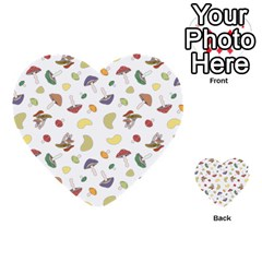 Mushrooms Pattern Multi Purpose Cards (heart)  by Famous