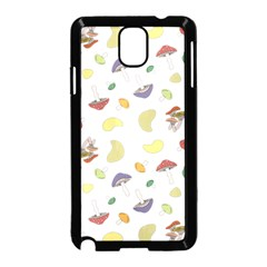 Mushrooms Pattern Samsung Galaxy Note 3 Neo Hardshell Case (black) by Famous