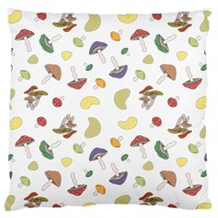 Mushrooms Pattern Large Flano Cushion Cases (two Sides)  by Famous