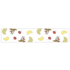 Mushrooms Pattern Flano Scarf (small)  by Famous
