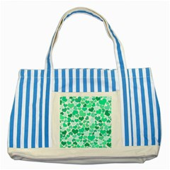 Heart 2014 0916 Striped Blue Tote Bag  by JAMFoto