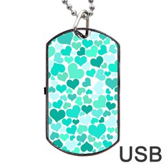 Heart 2014 0917 Dog Tag USB Flash (One Side) by JAMFoto