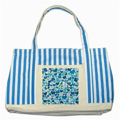 Heart 2014 0920 Striped Blue Tote Bag