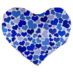 Heart 2014 0922 Large 19  Premium Flano Heart Shape Cushions by JAMFoto