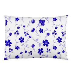 Sweet Shiny Flora Blue Pillow Cases (two Sides) by ImpressiveMoments