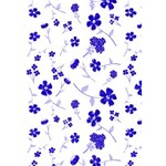 Sweet Shiny Flora Blue THANK YOU 3D Greeting Card (7x5)  Inside