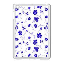 Sweet Shiny Flora Blue Apple Ipad Mini Case (white) by ImpressiveMoments