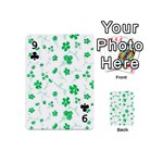 Sweet Shiny Floral Green Playing Cards 54 (Mini)  Front - Club9