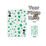 Sweet Shiny Floral Green Playing Cards 54 (Mini)  Front - ClubQ