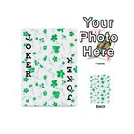 Sweet Shiny Floral Green Playing Cards 54 (Mini)  Front - Joker1