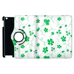 Sweet Shiny Floral Green Apple Ipad 2 Flip 360 Case by ImpressiveMoments