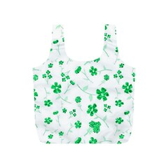 Sweet Shiny Floral Green Full Print Recycle Bags (s)  by ImpressiveMoments