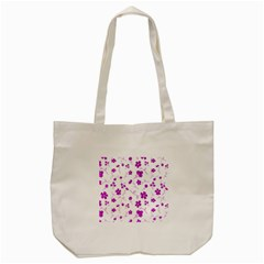 Sweet Shiny Floral Pink Tote Bag (cream)  by ImpressiveMoments