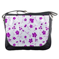 Sweet Shiny Floral Pink Messenger Bags by ImpressiveMoments